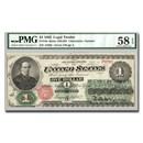1862 $1.00 Legal Tender Salmon P. Chase AU-58 EPQ PMG