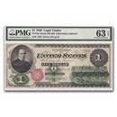 1862 $1.00 Legal Tender Salmon P. Chase CU-63 EPQ PMG
