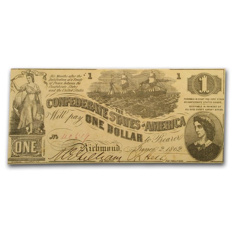 1862 $1.00 (T-44) Lucy Pickens Steamship CU