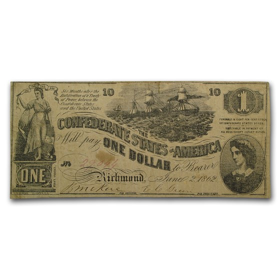 1862 $1.00 (T-44) Steamship at Sea, Lucy Pickens VF