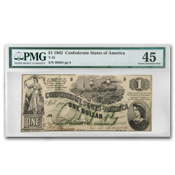 1862 $1.00 (T-45) Lucy Pickens Steamship XF-45 PMG