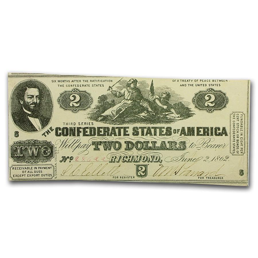 1862 $2.00 (T-42) South Strikes Down the Union AU