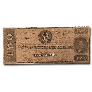 1862 $2.00 (T-54) Judah P. Benjamin VG