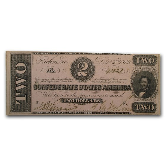 1862 $2.00 (T-54) Judah P. Benjamin XF