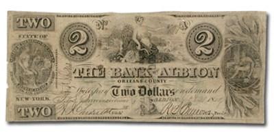 1862 Bank of Albion, NY $2 NY-115 Fine Counterfeit