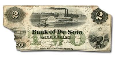 1862 Bank of DeSoto, Nebraska $2.00 NE-25 Fine