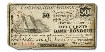 1862 Bank of Roundout, NY $.50 NY-2465 Fine Unlisted