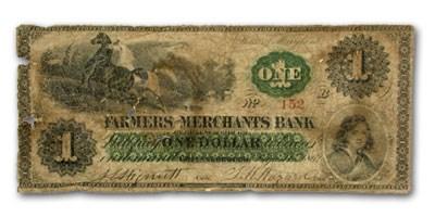 1862 Farmers & Merchants Bank Greensborough MD $5.00 MD-230 Good