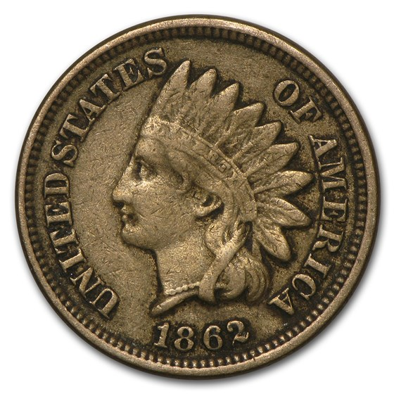 1862 Indian Head Cent Fine