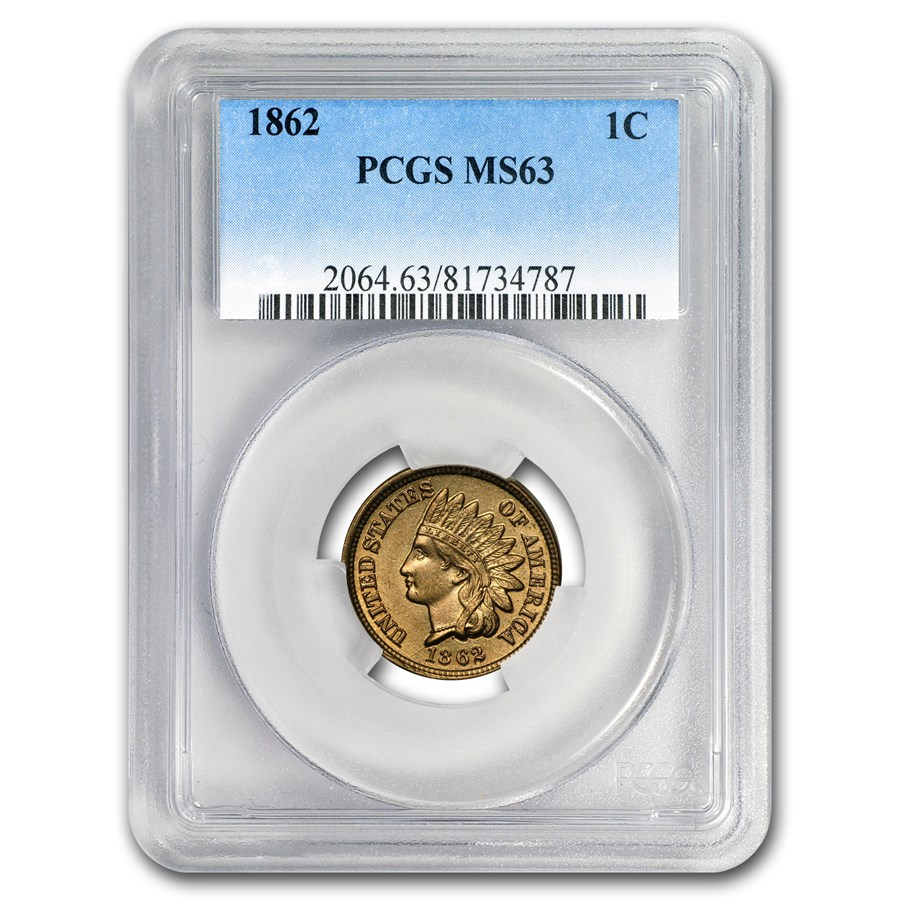1862 Indian Head Cent MS-63 PCGS