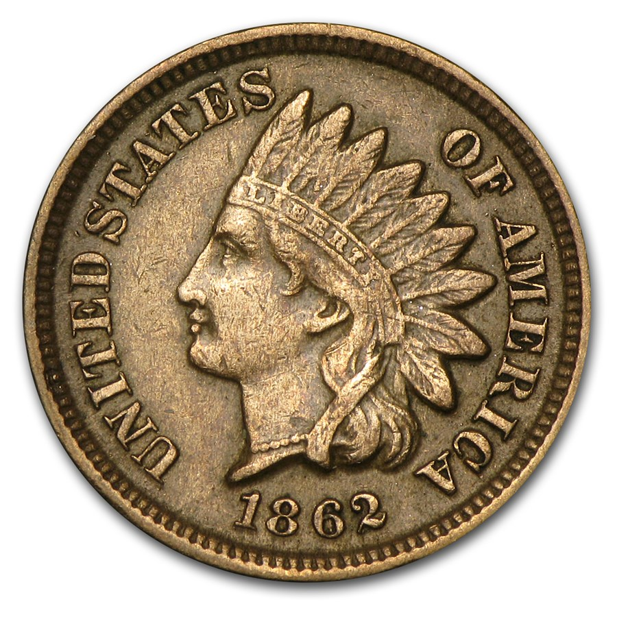 1862 Indian Head Cent XF