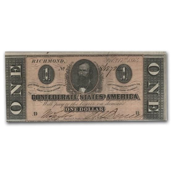 1863 $1.00 (T-62) Clement C. Clay AU