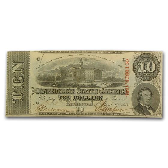 1863 $10 (T-59) Capitol @ Columbia, SC CCU