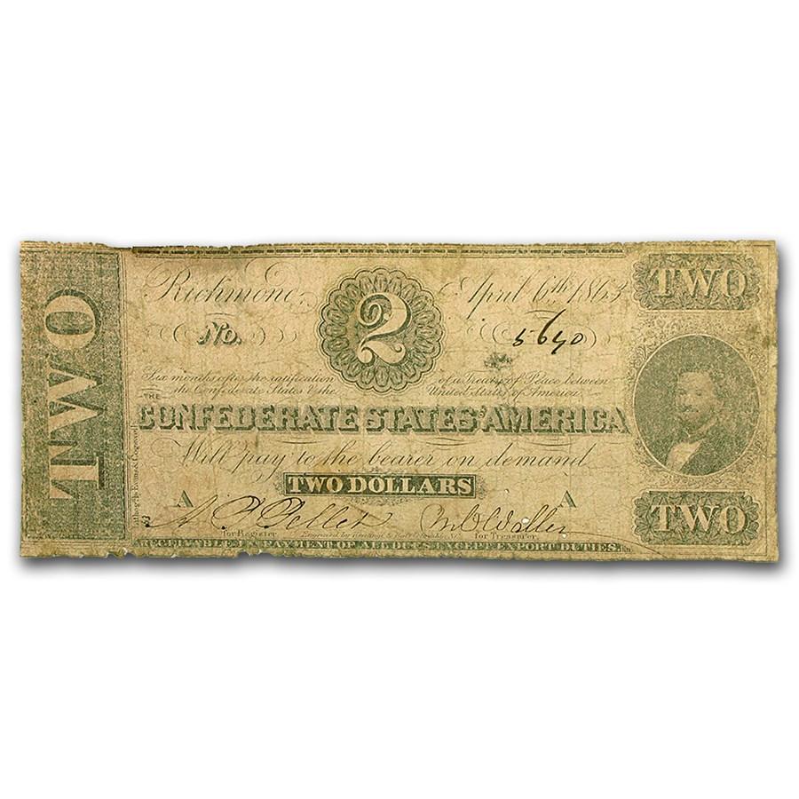 1863 $2.00 (T-61) Judah Benjamin Good