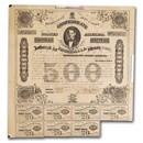 1863 $500 CSA Bond 8%/5 yr Memminger/Rose (CR 124A) XF