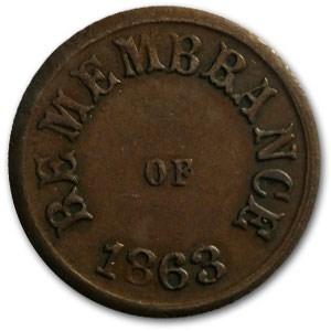 1863 Civil War Token Patriotic 245/381 XF