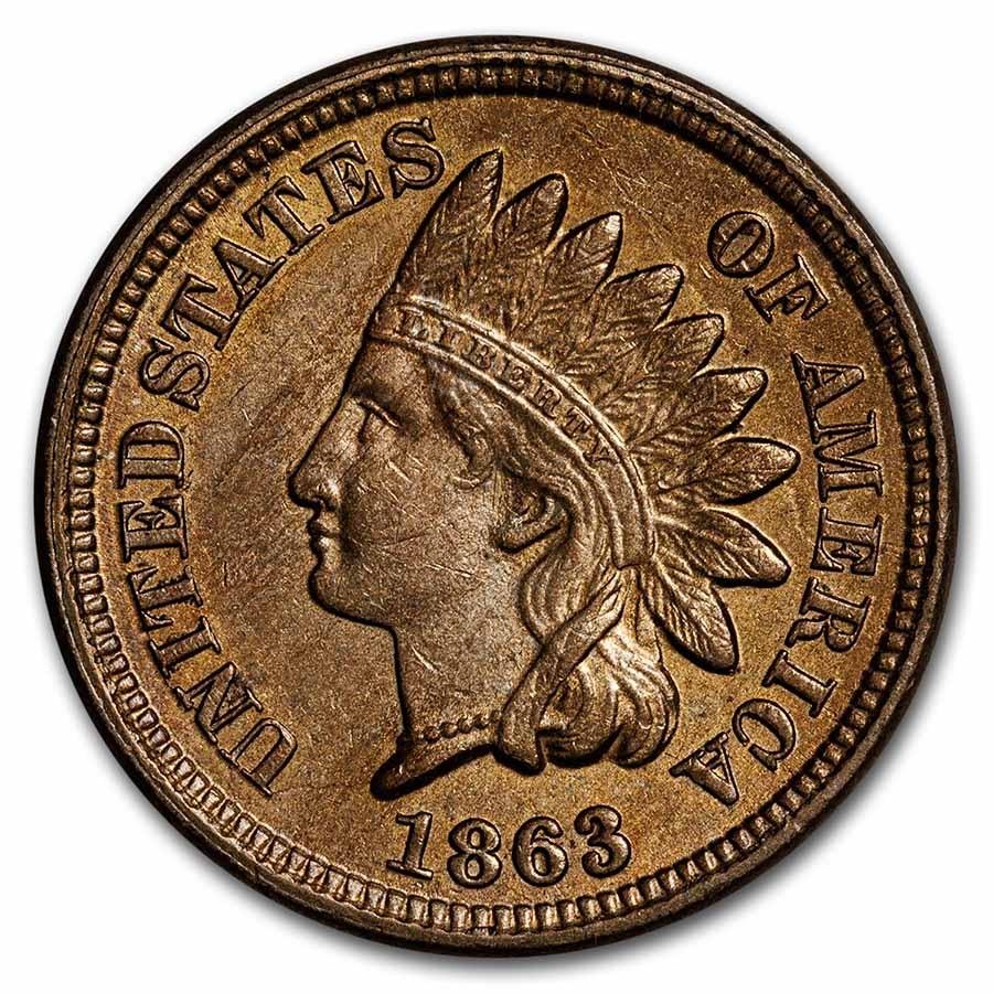1863 Indian Head Cent BU