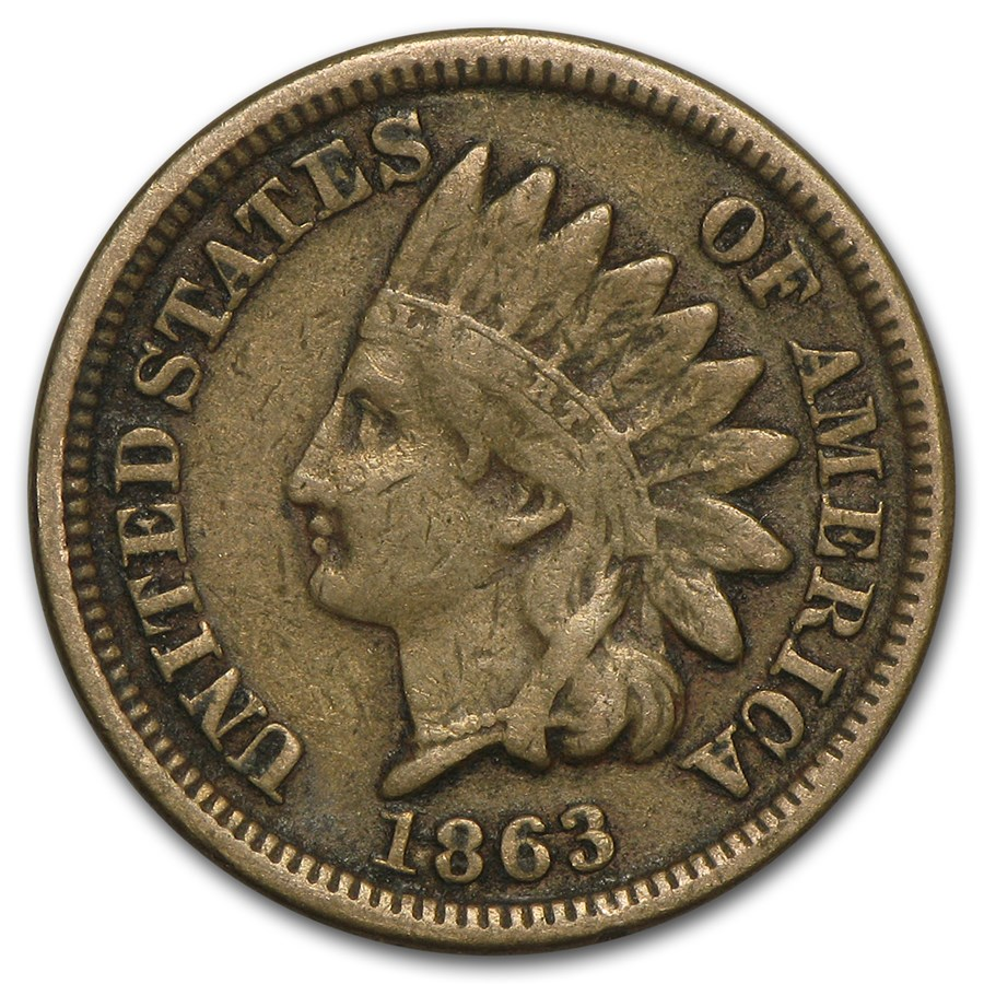 1863 Indian Head Cent Fine
