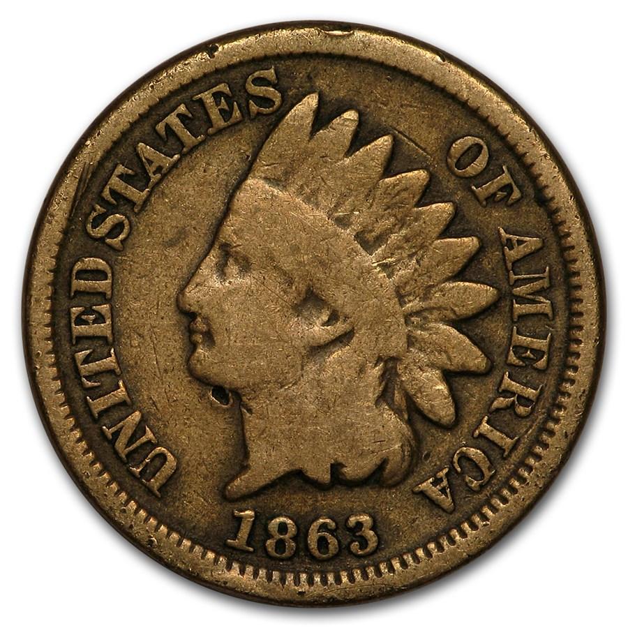 1863 Indian Head Cent Good
