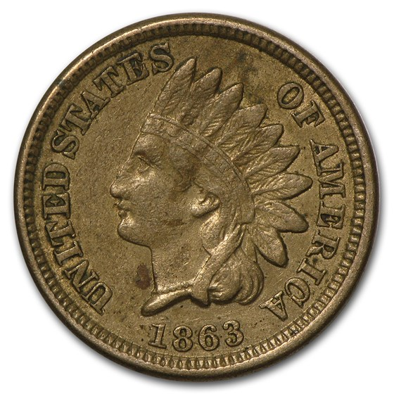 1863 Indian Head Cent VF