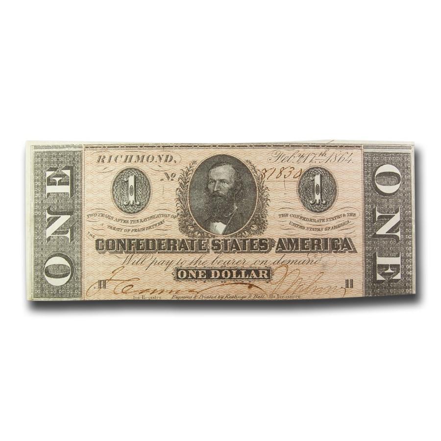 1864 $1.00 (T-71) Clement C. Clay CU