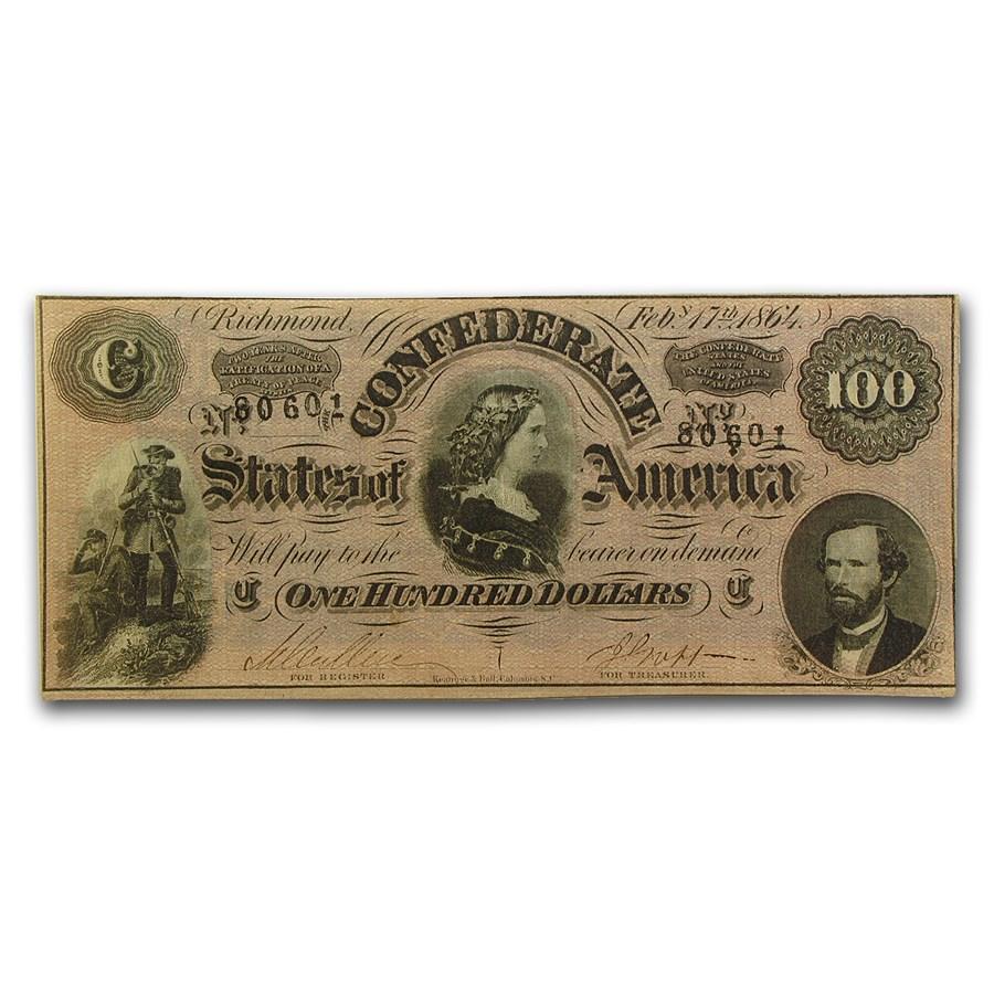 1864 $100 (T-65) Lucy Pickens CU