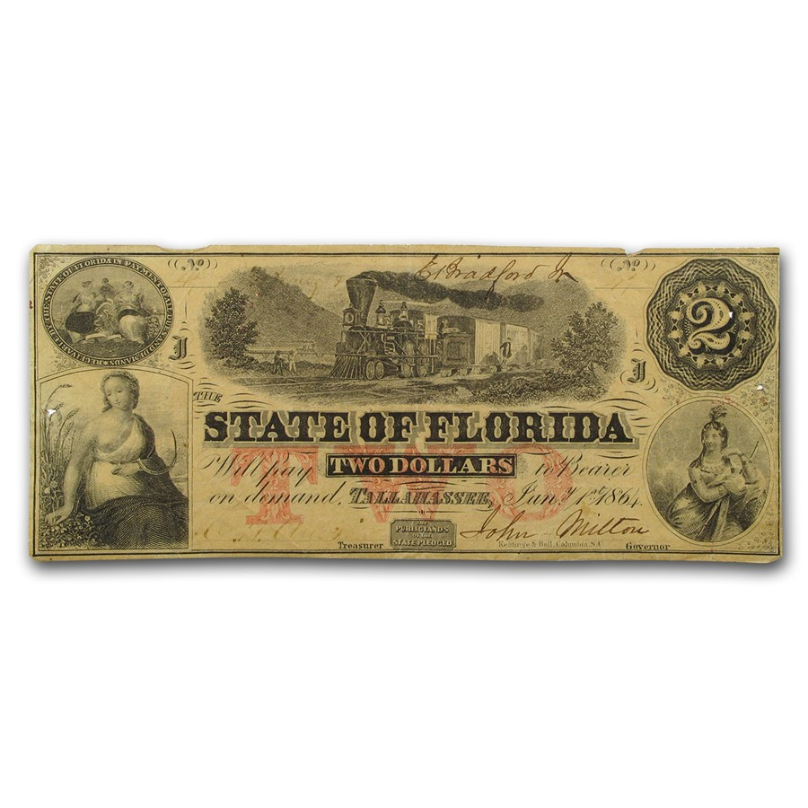 1864 $2.00 State of Florida VF