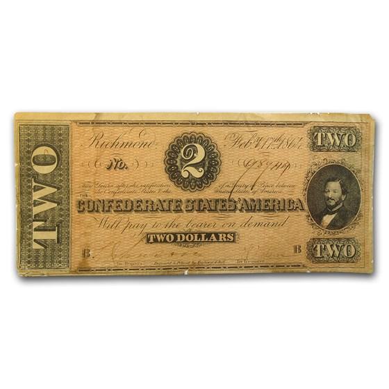 1864 $2.00 (T-70) Judah P. Benjamin Fine+