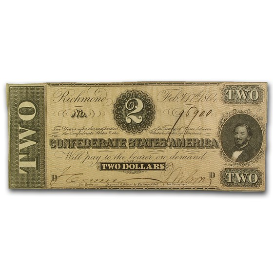 1864 $2.00 (T-70) Judah P. Benjamin XF