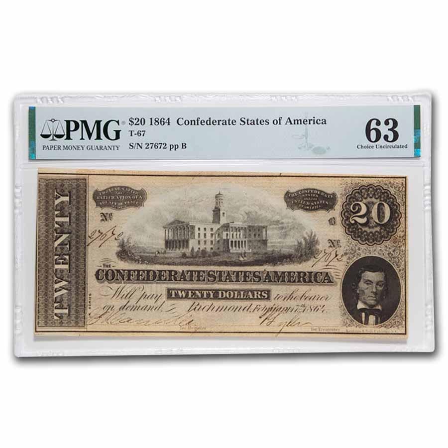 1864 $20 (T-67) Capitol @ Nashville, TN CU-63 PMG