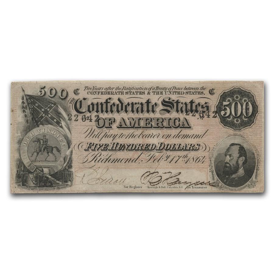 1864 $500 (T-64) Stonewall Jackson XF
