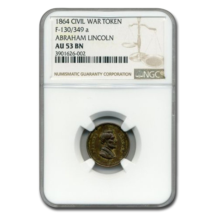 1864 Civil War Token Abraham Lincoln AU-53 NGC (Brown)