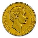 (1864) German States Wurzburg Gold Goldgulden Ludwig II MS-60 NGC