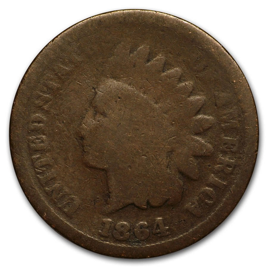 1864 Indian Head Cent Bronze AG
