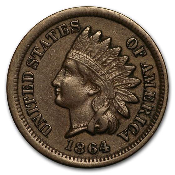 1864 Indian Head Cent Bronze AU