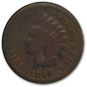 1864 Indian Head Cent Bronze Good Details (Dmgd)