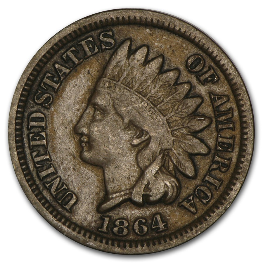 1864 Indian Head Cent Bronze VF