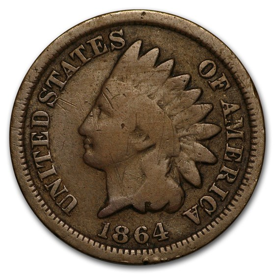 1864 Indian Head Cent Bronze VG