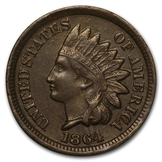 1864 Indian Head Cent Bronze XF