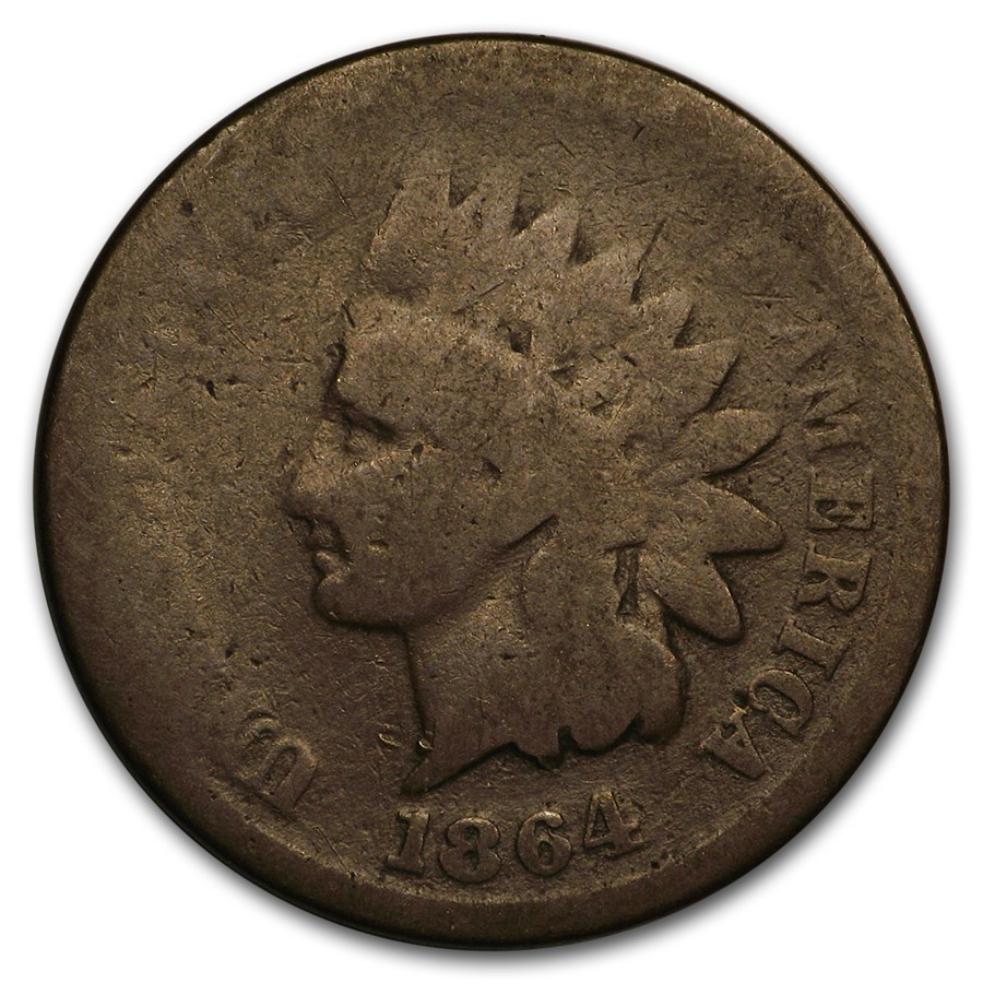 1864 Indian Head Cent Copper-Nickel AG