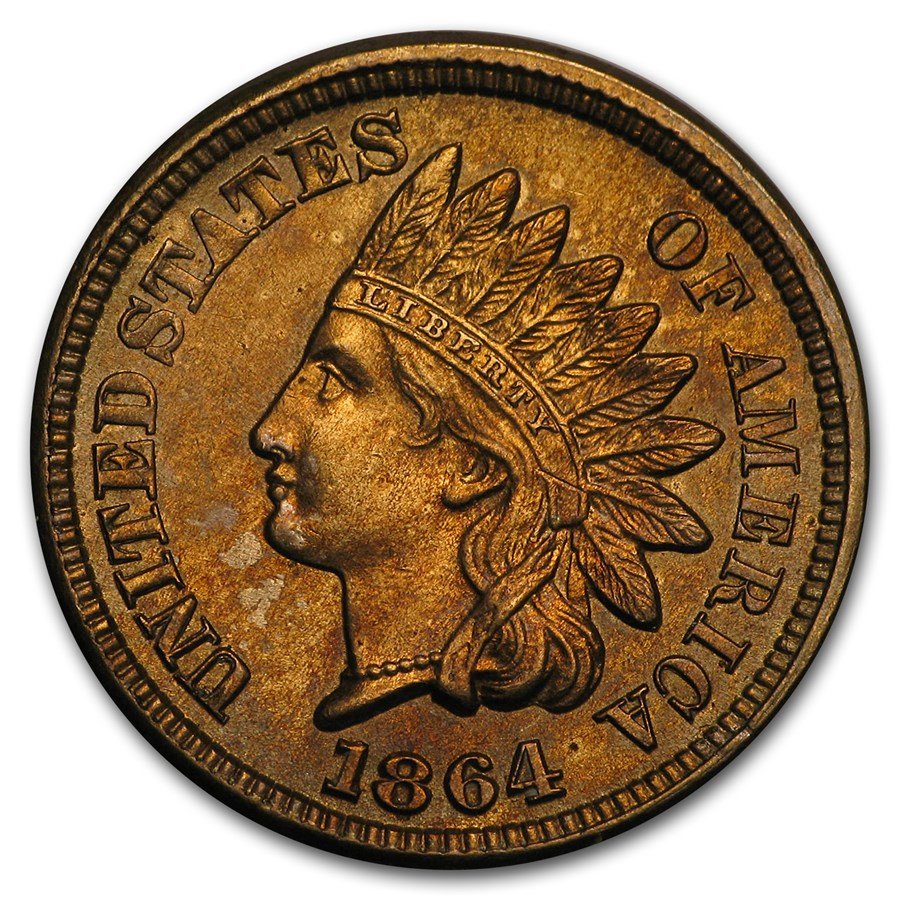 1864 Indian Head Cent Copper-Nickel BU