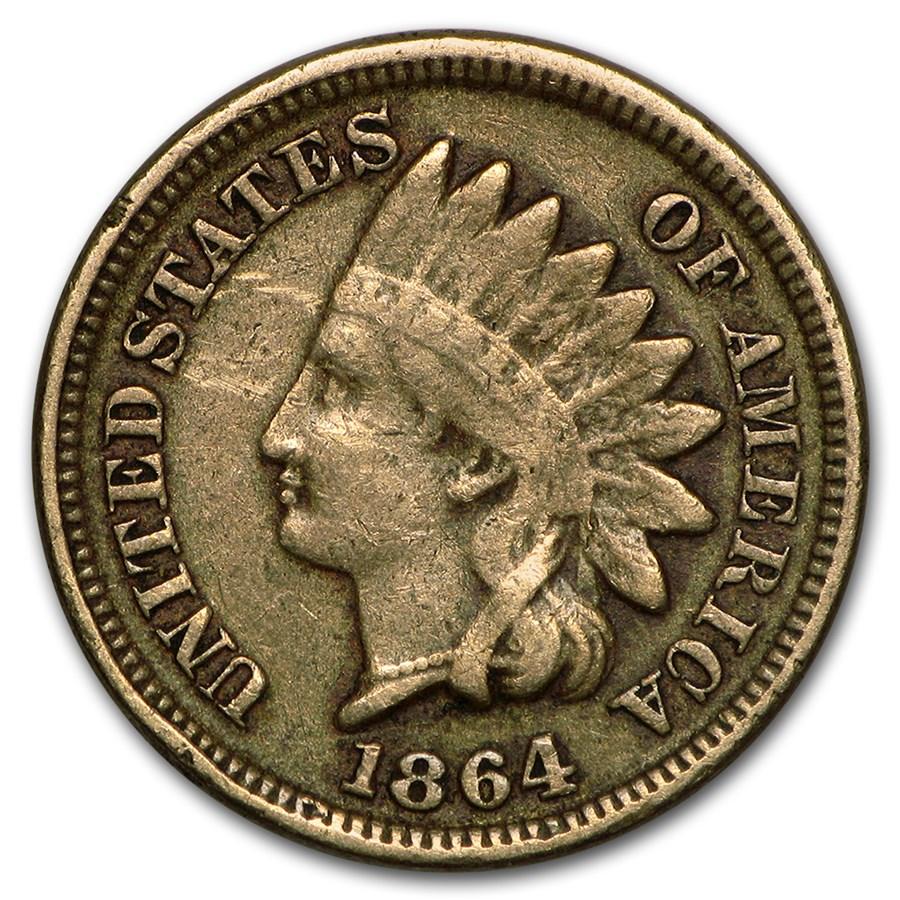 1864 Indian Head Cent Copper-Nickel Fine