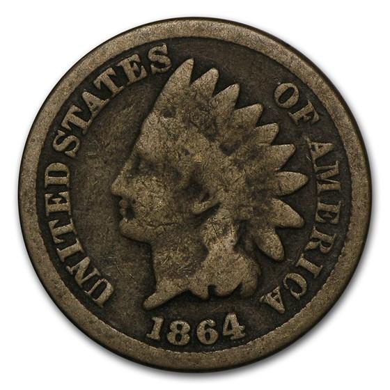1864 Indian Head Cent Copper-Nickel Good
