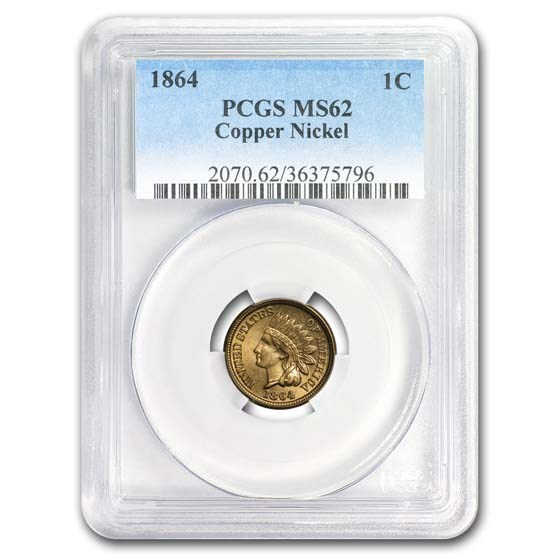 1864 Indian Head Cent Copper Nickel MS-62 PCGS