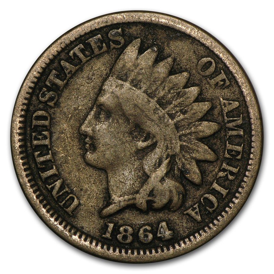 1864 Indian Head Cent Copper-Nickel VG