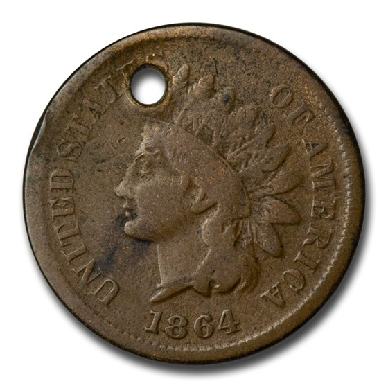 1864 Indian Head Cent Good Details (L on Ribbon)