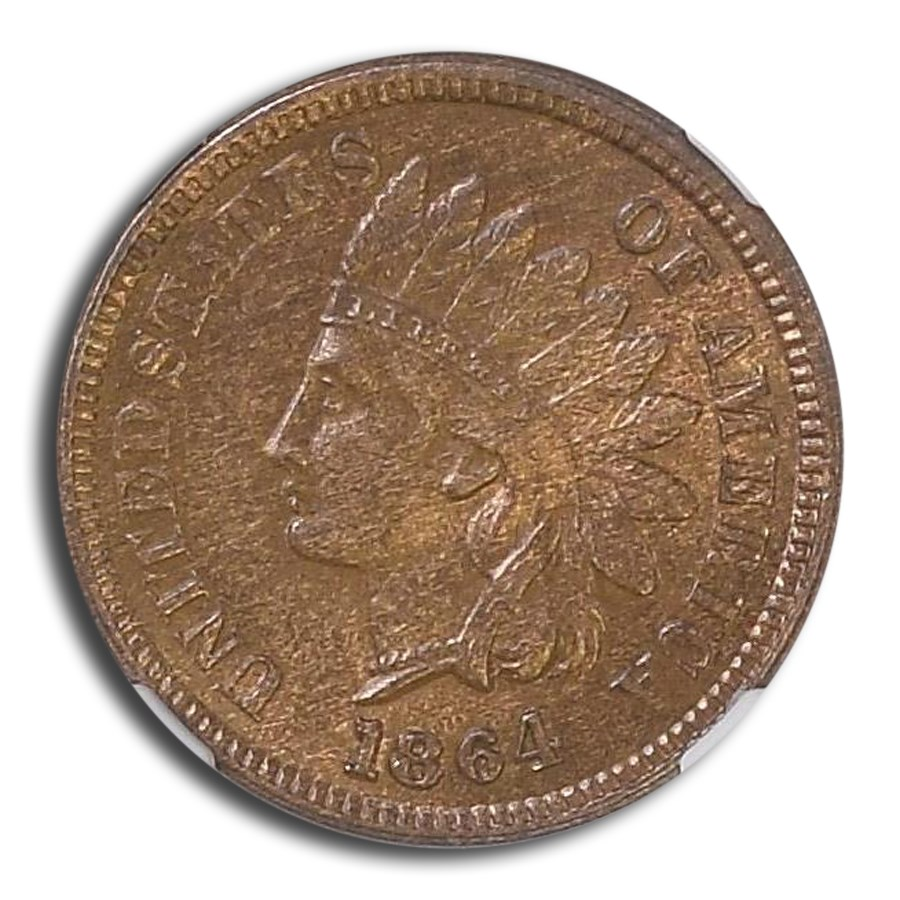 1864 Indian Head Cent MS-62 NGC (Brown, Bronze L)