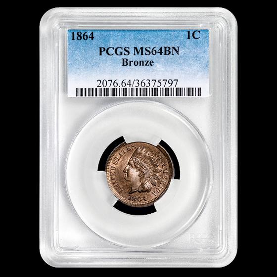 1864 Indian Head Cent MS-64 PCGS (Bronze)