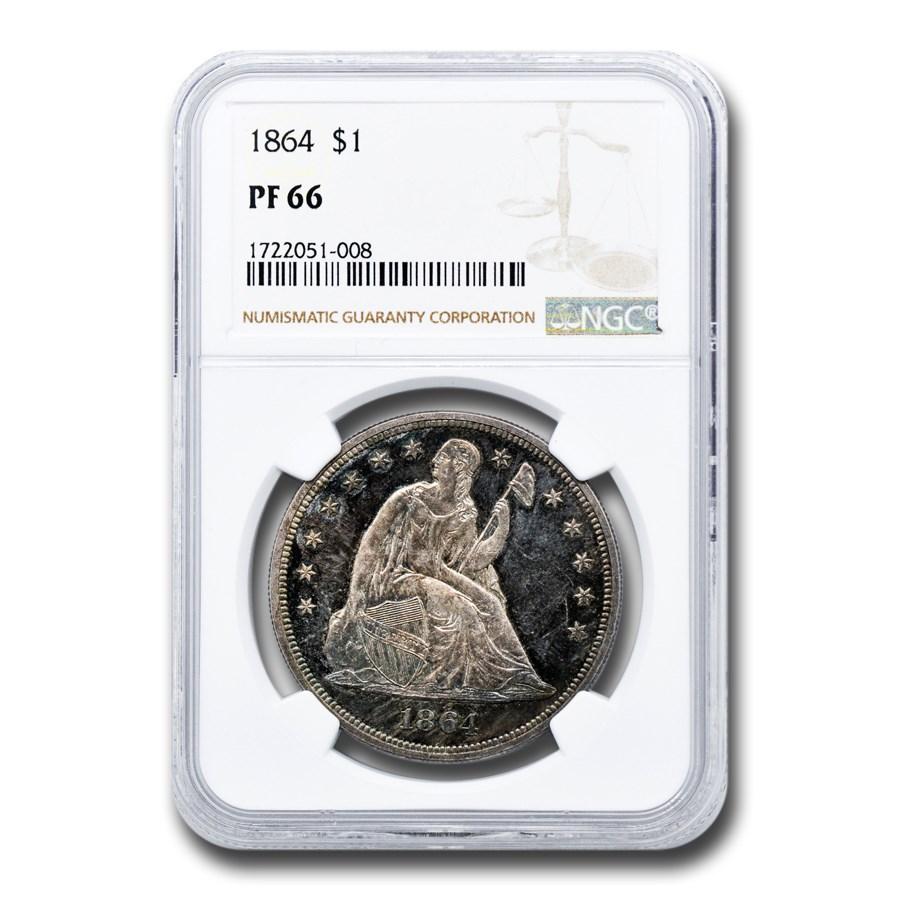 1864 Liberty Seated Dollar PF-66 NGC