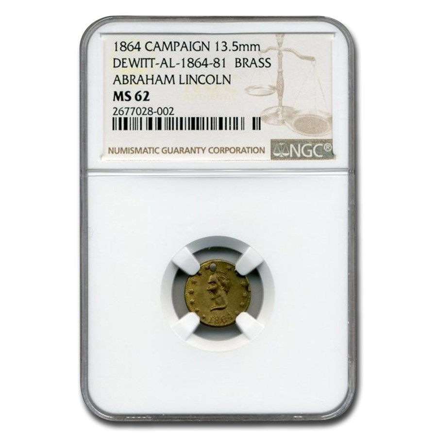 1864 Lincoln Campaign Medal MS-62 NGC